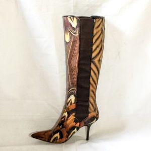 Roberto Cavalli Butterfly Design Boot